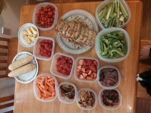 Sunday food prep 7 July 2013
